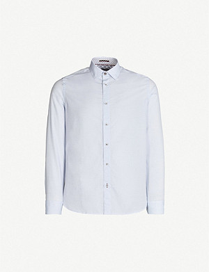 TED BAKER Notlong regular-fit printed cotton shirt