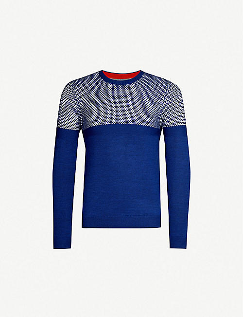 8c6a738df TED BAKER Contrasting knitted jumper