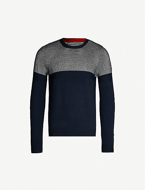 f65d9d60f9de TED BAKER Contrasting knitted jumper