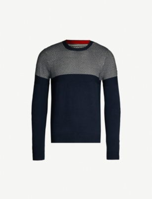TED BAKER Contrasting knitted jumper