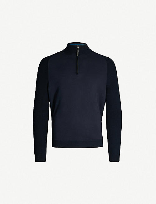 TED BAKER Zip-neck kniited jumper