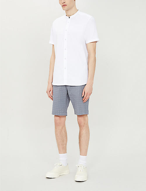 TED BAKER Joordan embroidered cotton-blend shorts