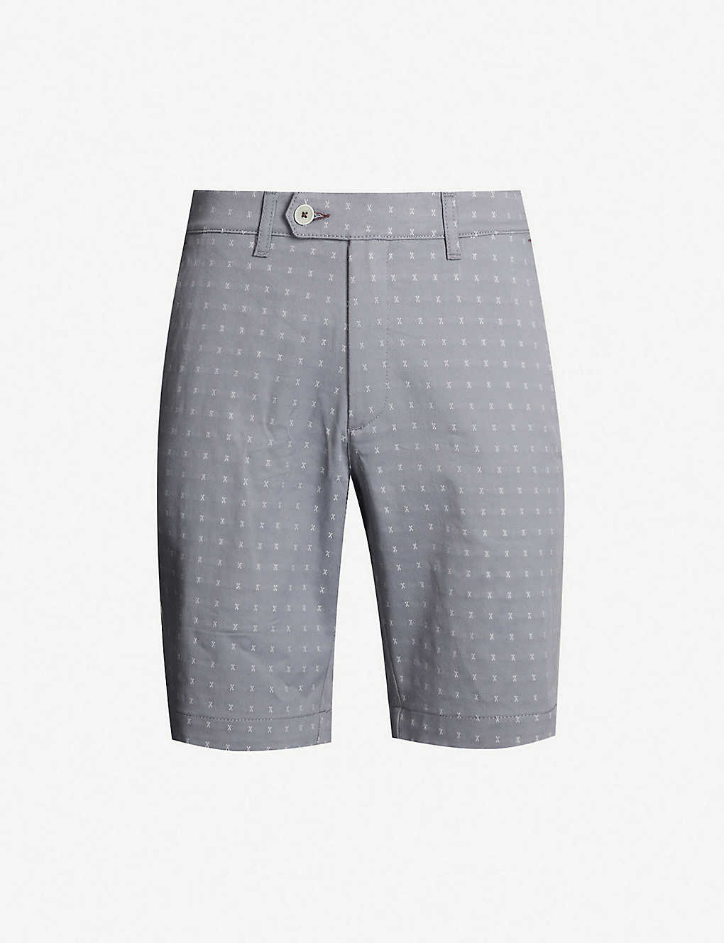 TED BAKER: Joordan embroidered cotton-blend shorts