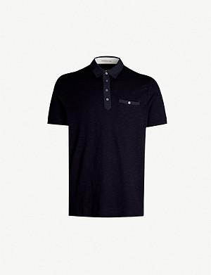 6442324286daa TED BAKER - Amir floral-print cotton polo shirt | Selfridges.com
