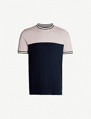 TED BAKER Silva panelled cotton T-shirt