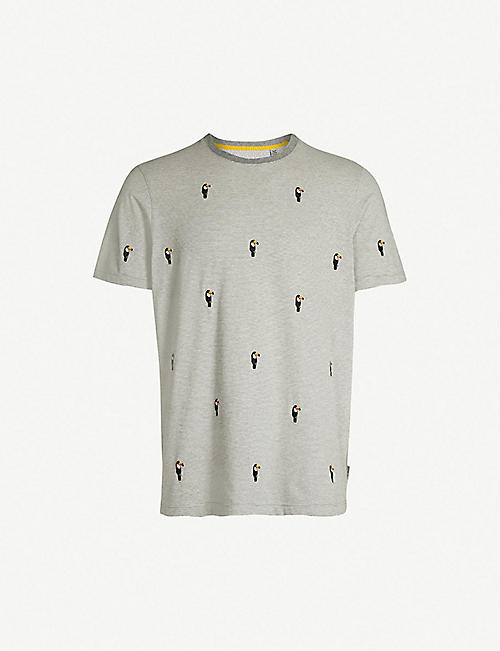 f09f0b4b5 TED BAKER Vipa embroidered cotton-jersey T-shirt