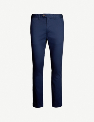 TED BAKER Slim-fit micro print stretch-cotton chinos