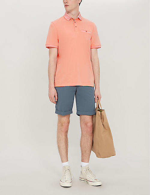 TED BAKER Frog contrast trim stretch-jersey polo shirt