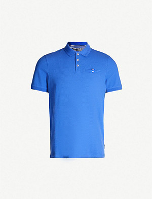 TED BAKER Vardy cotton-blend polo shirt
