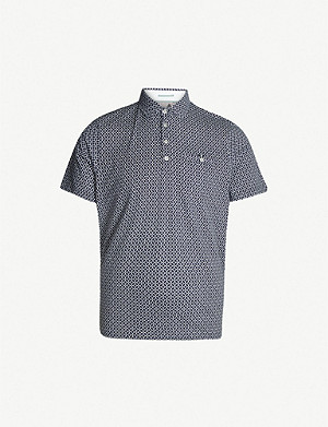 TED BAKER Badant geometric-print cotton polo shirt