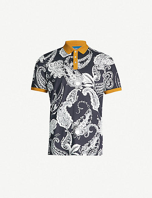 be2ce56fe TED BAKER Jaipur paisley-print cotton polo shirt