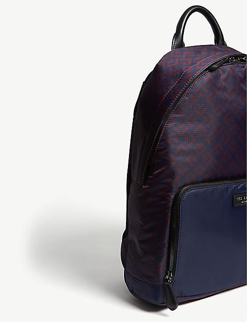 TED BAKER Polka printed nylon backpack