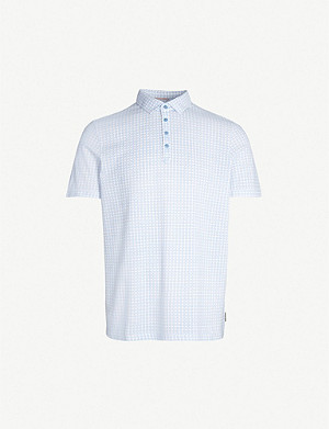 TED BAKER Flee geometric-pattern cotton polo shirt