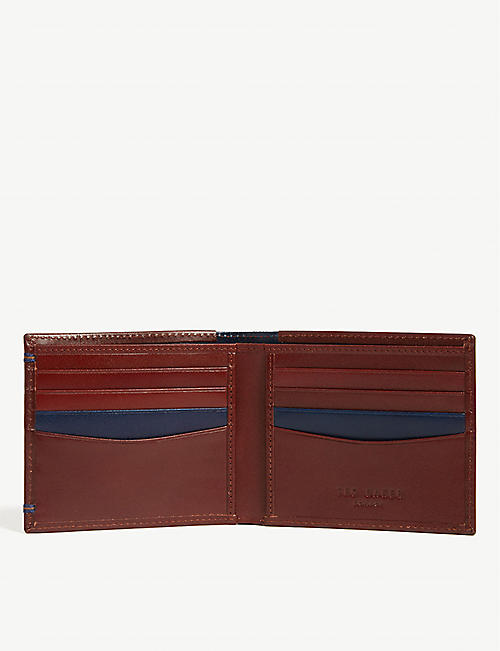 TED BAKER Slite striped leather wallet