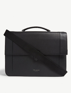 TED BAKER Aggro leather messenger bag
