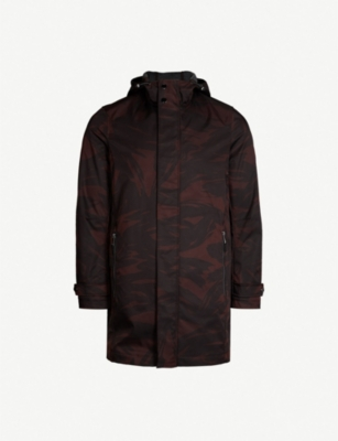 TED BAKER Manbo Printed hooded shell jacket