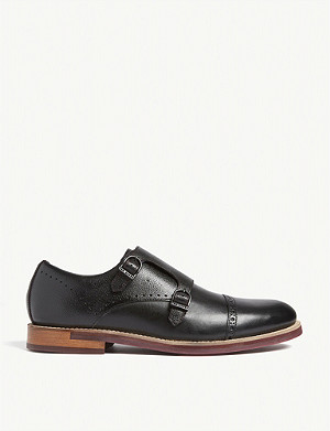 TED BAKER Ramink double buckle leather monk shoes