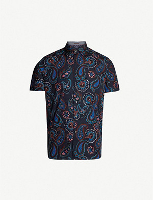 TED BAKER Dogg paisley cotton shirt