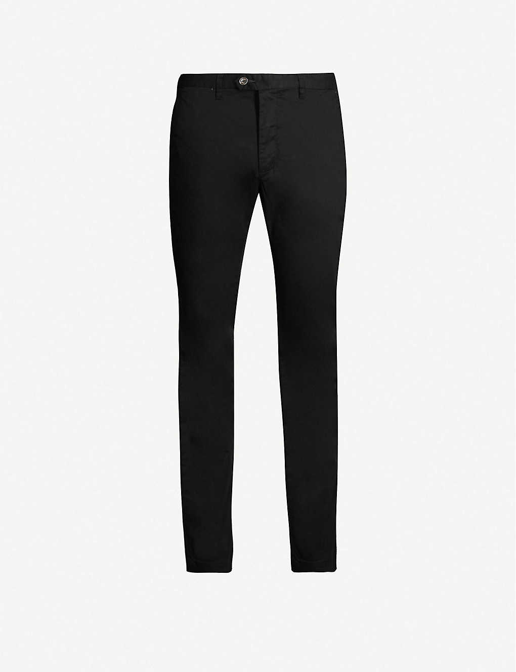 TED BAKER: Slim-fit straight stretch-cotton chinos