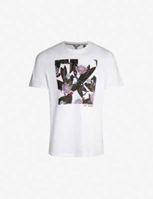 TED BAKER Portion snake graphic cotton-jersey T-shirt