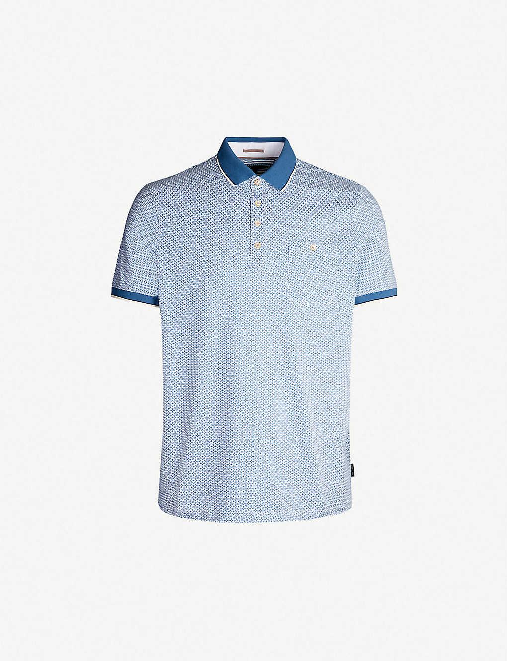 e727121a0 TED BAKER - Toff geometric-print cotton polo shirt