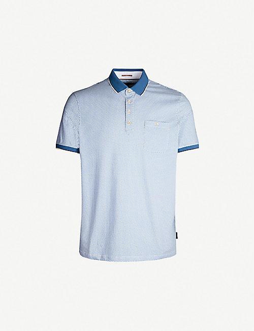 0de1d1238 TED BAKER Toff geometric-print cotton polo shirt
