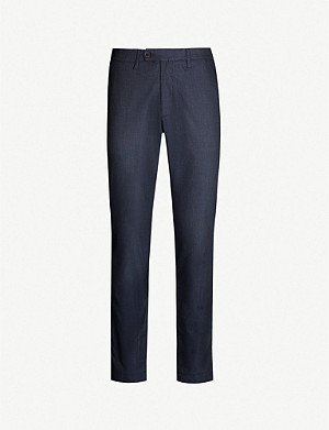 TED BAKER Stelim slim-fit cotton-blend twill trousers