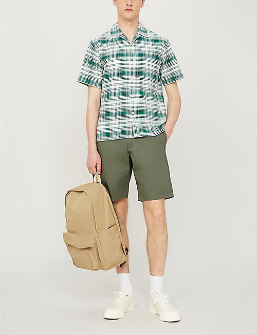 TED BAKER Shorlid geometric-print stretch-cotton shorts