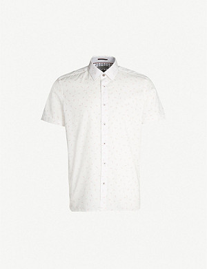 TED BAKER Piapple regular-fit cotton shirt