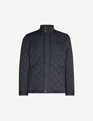 TED BAKER Quilted wool-blend jacket