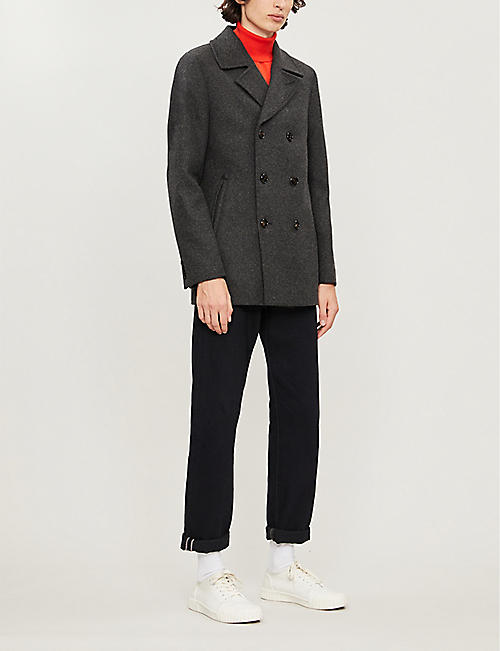TED BAKER Westun double-breasted wool-blend coat