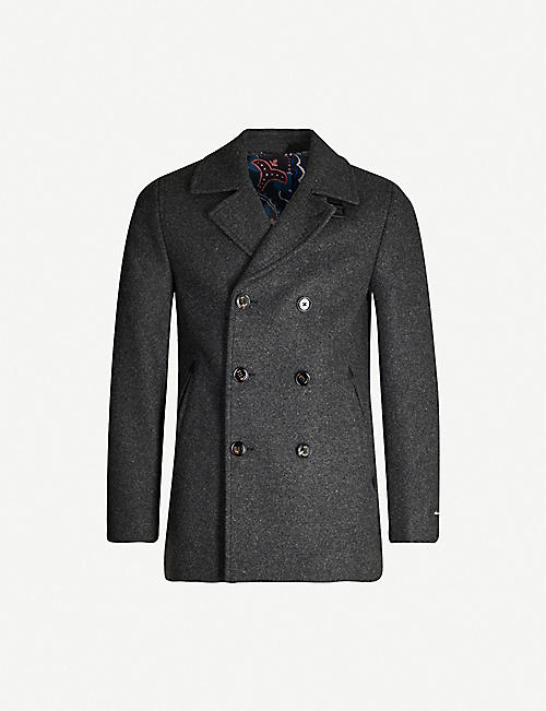 TED BAKER: Westun double-breasted wool-blend coat