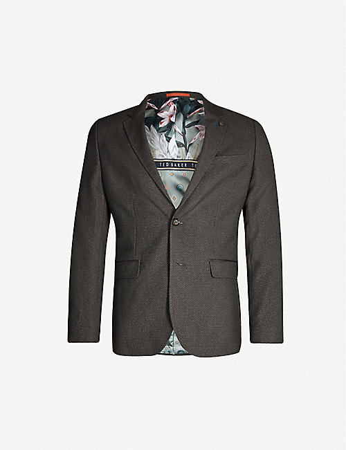 TED BAKER Single-breasted slim-fit woven blazer
