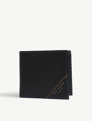 TED BAKER Bi-fold leather wallet