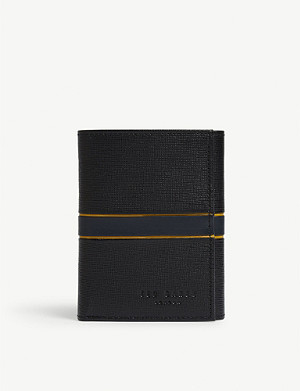 TED BAKER Strive leather trifold wallet