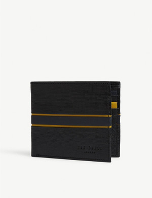 TED BAKER Trade leather bifold wallet