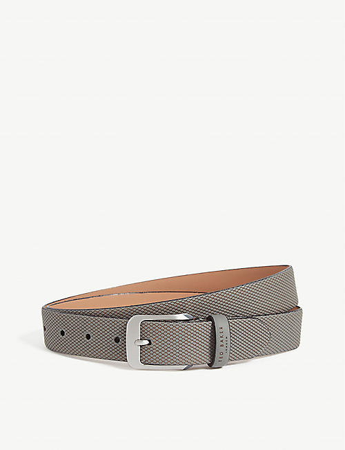 TED BAKER Streaky textured leather belt