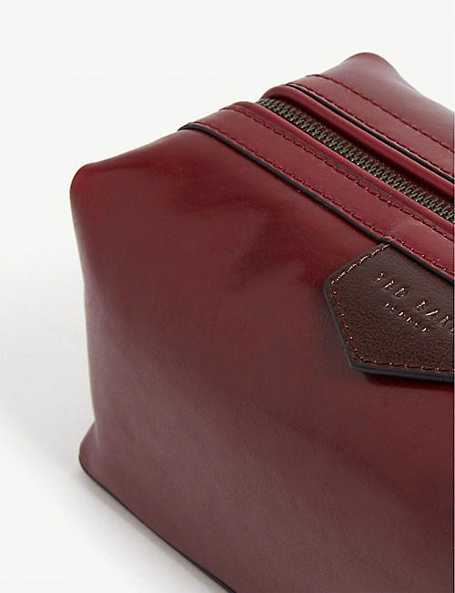TED BAKER Delly leather wash bag