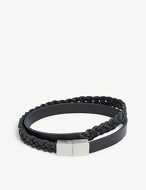 TED BAKER Plaited leather bracelet