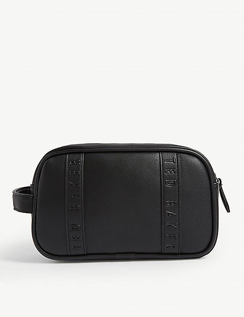 TED BAKER Embossed faux leather wash bag
