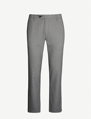 TED BAKER Slim-fit tapered stretch-cotton trousers