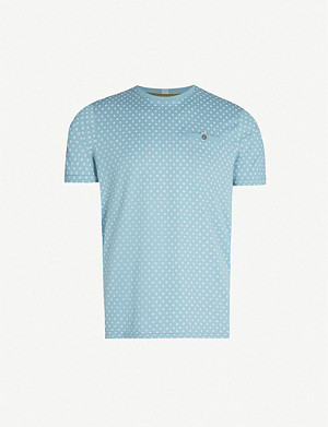 TED BAKER Geometric dot-print cotton-jersey T-shirt