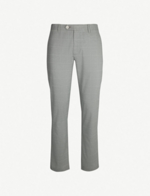 TED BAKER Ghana check slim-fit twill trousers