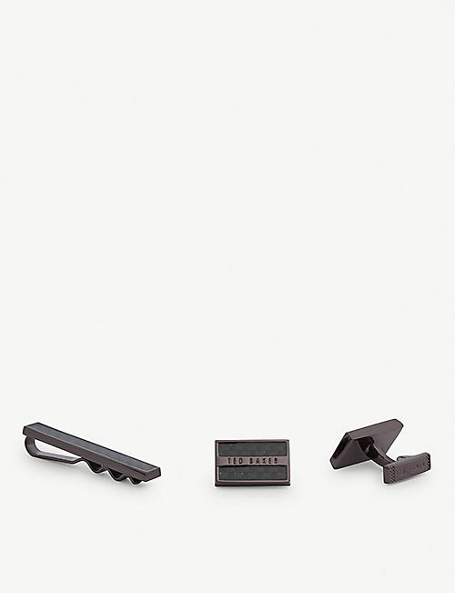 TED BAKER Rooset tie bar and cufflinks set