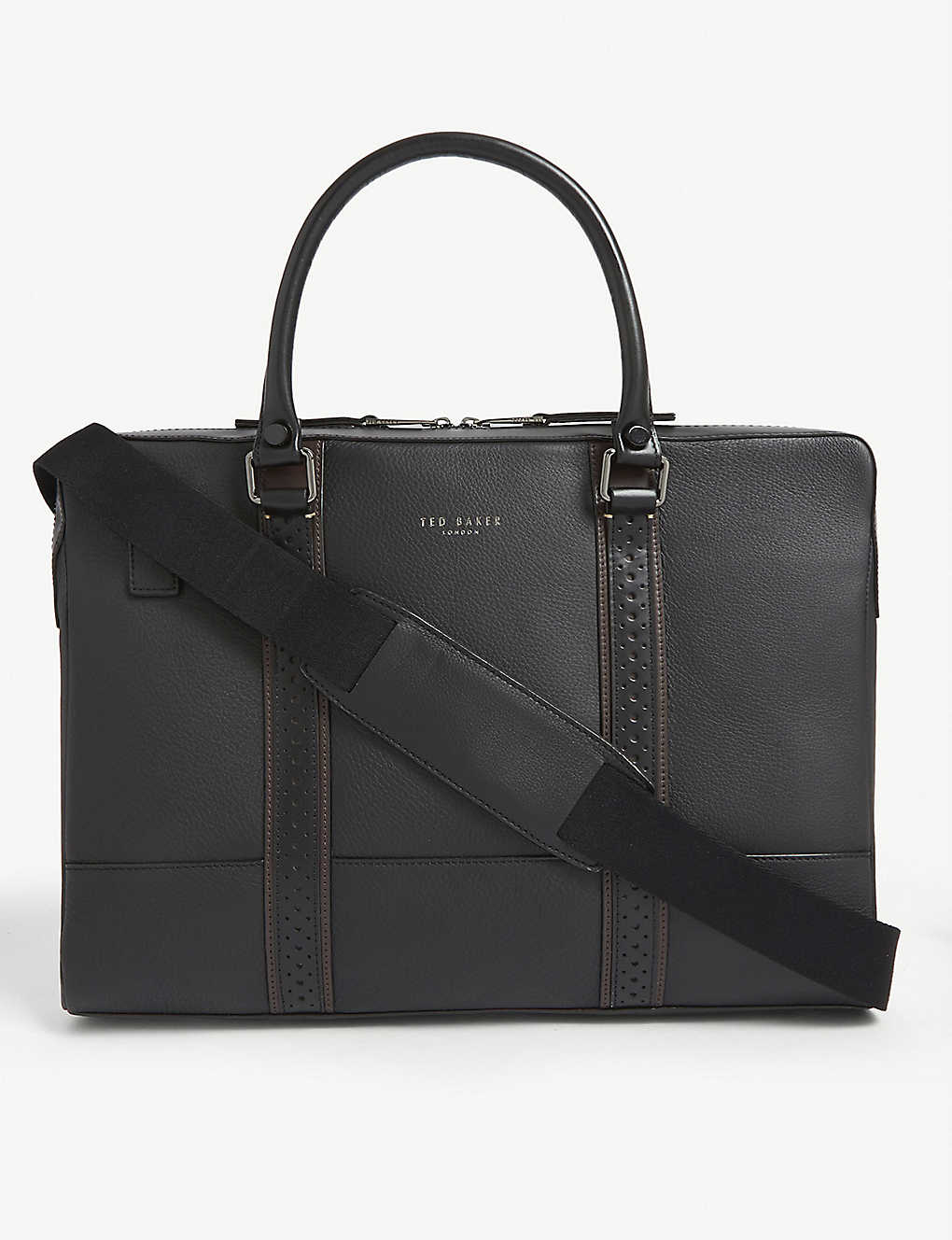 TED BAKER: Catch leather document bag