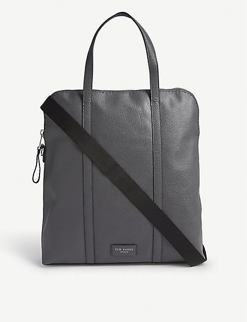 TED BAKER Fabrik leather backpack/tote bag