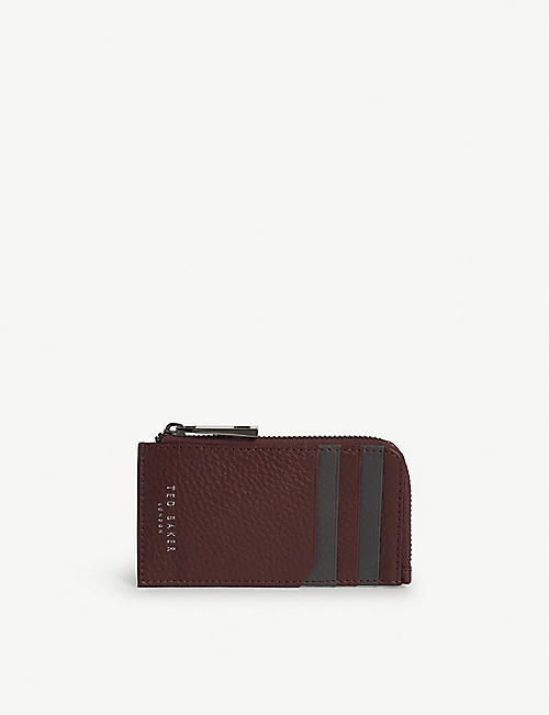TED BAKER Worcard grained leather card holder