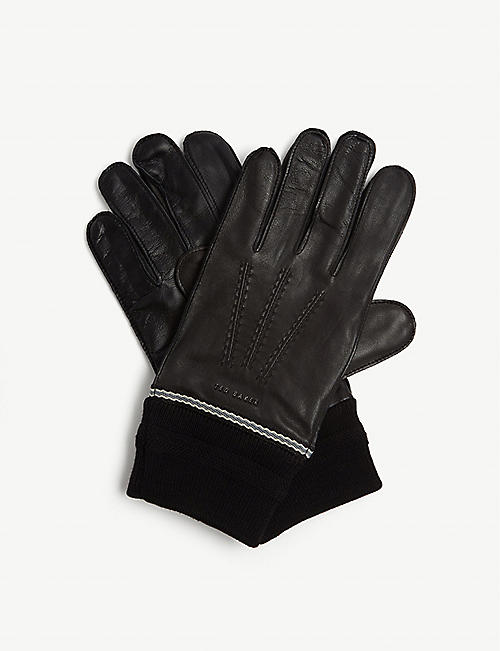 TED BAKER: Quirky leather gloves