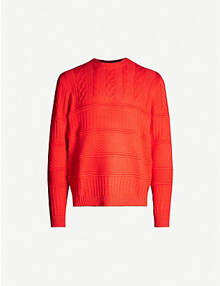 TED BAKER: Ribbed cotton-knit blend jumper