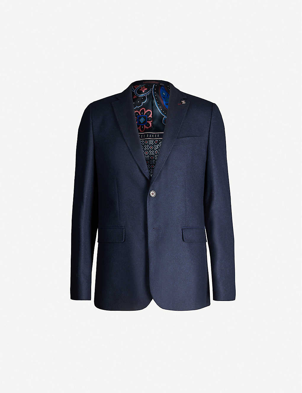TED BAKER: Single-breasted regular-fit wool-blend blazer